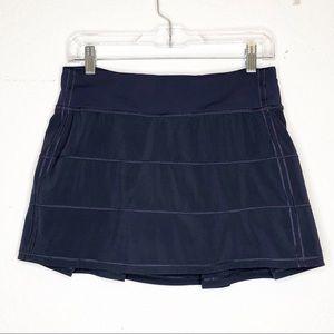 Lululemon   Blue Workout Skirt w/ Shorts Size 6